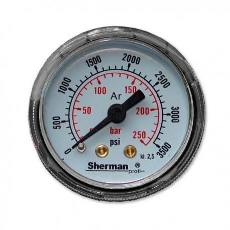 Manometr reduktora RBR-Ar/CO2 – 40mm - z rotametrem