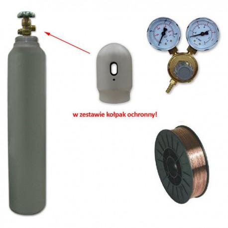 Butla CO2 6kg + reduktor + drut