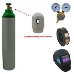 Butla Ar+CO2 8 l + reduktor + spawmix + drut + przyłbica V1a