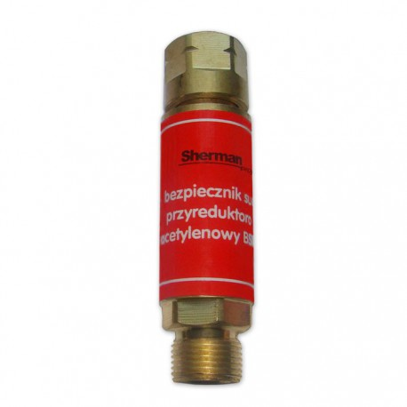 Bezpiecznik gazowy przyreduktorowy acetylentowy  BSR1-A