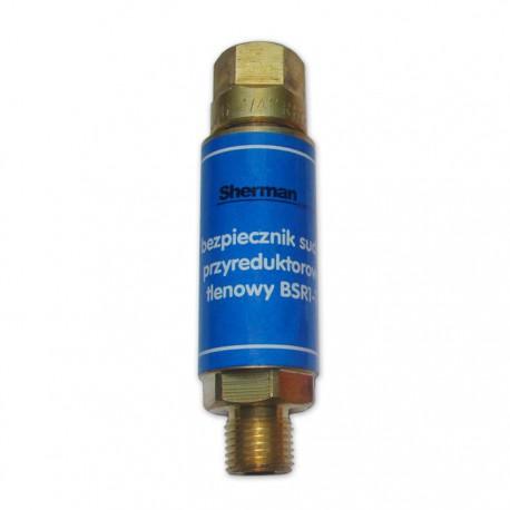 Bezpiecznik gazowy przyreduktorowy tlenowy  BSR1-T