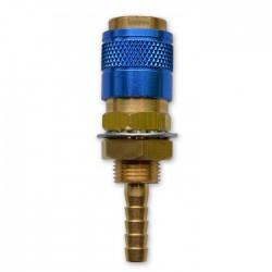 Gniazdo szybkozłącza typ R21 panelowe woda niebieskie króciec 6mm