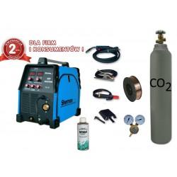 Spawarka MIG 200M + reduktor dwumanometrowy + drut + butla + spawmix