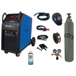 Spawarka MTM 251 + butla CO2 6kg + reduktor dwumanometrowy + przyłbica samościemniająca V1a + drut + spawmix