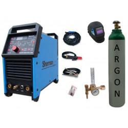Spawarka DIGITIG 200GD AC/DC pulse Sherman + przyłbica V1a + butla + reduktor z rotametrem
