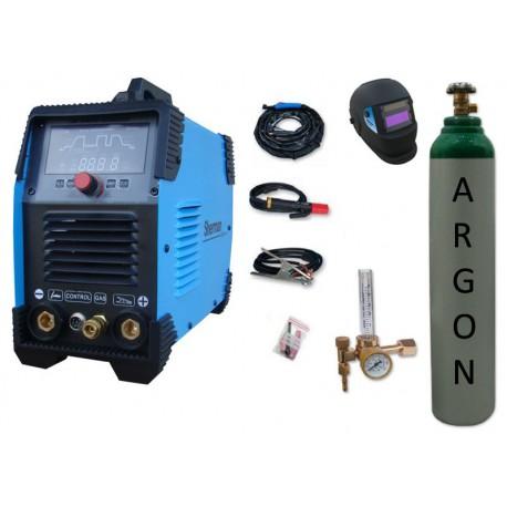 Spawarka Sherman DIGITIG 200 DC Multipro + przyłbica V1a + butla + reduktor z rotametrem