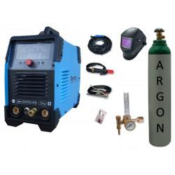 Spawarka Sherman DIGITIG 200DC Multipro + przyłbica V4 + butla + reduktor z rotametrem