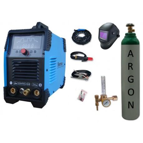 Spawarka Sherman DIGITIG 200 DC Multipro + przyłbica V4 + butla + reduktor z rotametrem
