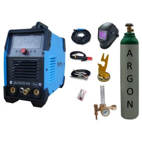 Spawarka Sherman DIGITIG 200 DC Multipro + przyłbica V4 + butla + reduktor z rotametrem + uchwyt magnetyczny tig
