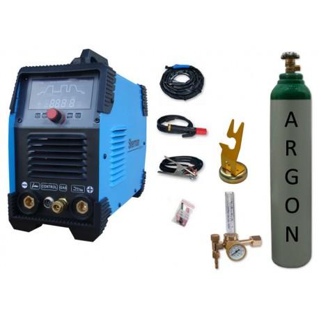 Spawarka Sherman DIGITIG 200 DC Multipro + butla + reduktor z rotametrem + uchwyt magnetyczny tig