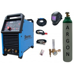 Spawarka DIGITIG 200GD AC/DC pulse Sherman + przyłbica V4 + butla + reduktor z rotametrem