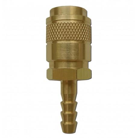 Gniazdo szybkozłącza typ R21 panelowe gaz króciec 6mm