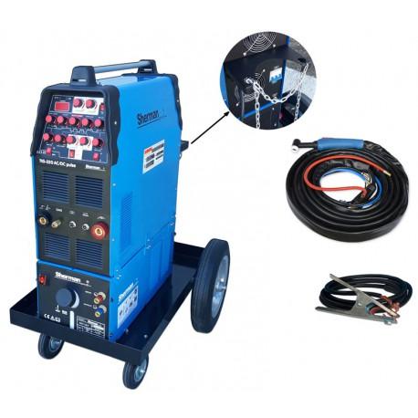 Zestaw spawalniczy TIG 320ACDC pulse WS-7,5LT, wózek patformowy TIG