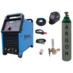 Spawarka DIGITIG 200GD AC/DC pulse Sherman + przyłbica V3b + butla + reduktor z rotametrem
