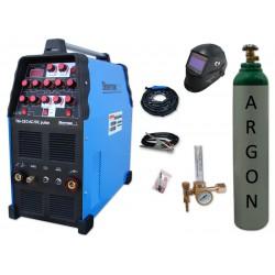 Spawarka TIG 320 AC/DC pulse Sherman + przyłbica V3b + butla + reduktor z rotametrem