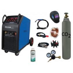 Spawarka MTM 251 + butla CO2 6kg + reduktor arg/co2 + przyłbica samościemniająca V1a + drut + adaptor + spawmix