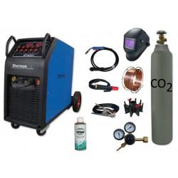 Spawarka MTM 251 + butla CO2 6kg + reduktor arg/co2 + przyłbica samościemniająca V4 + drut + adaptor + spawmix