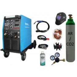 Spawarka MIG 261M 4R Sherman + butla + drut + przyłbica V3b + adaptor szpuli + spawmix + reduktor