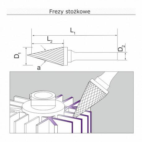 Frez płomieniowy H102006