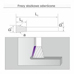 Frez stożkowy odwrócony N121206