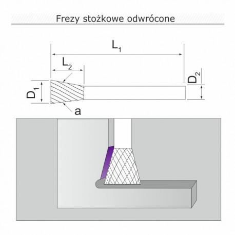 Frez stożkowy M102006