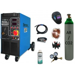 Spawarka MIG 320Y + butla mix + drut + adaptor + spawmix + reduktor + przyłbica V1a
