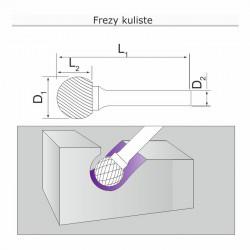 Frez kulisty D121006