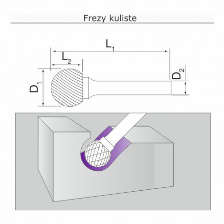 Frez ostrołukowy G082006