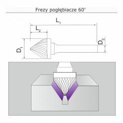 Frez pogłębiacz 60st J121106