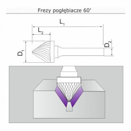Frez pogłębiacz 90st K120606