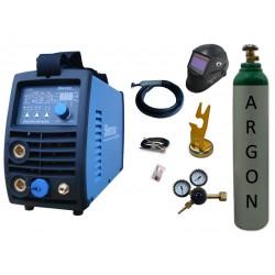 Spawarka Sherman DIGITIG 216P AC/DC inwertorowa + przyłbica V3b + butla + reduktor z rotametrem