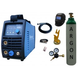 Spawarka Sherman DIGITIG 216P AC/DC inwertorowa + przyłbica V3b + butla + reduktor + uchwyt magnetyczny tig