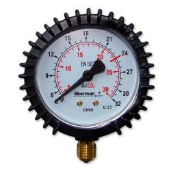 Manometr Wskaźnik przepływu Arg/CO2 32l/min M12x1,5