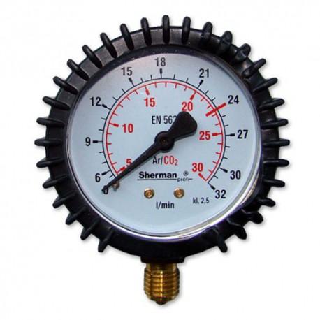 """Wsk.przep. Arg/CO2 32l/min 1/4"""""""
